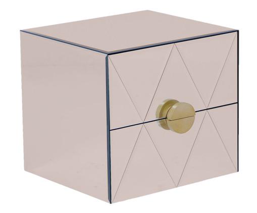 Mesa de Cabeceira Suspensa Mason - Bronze, Espelhado, Bronze | WestwingNow