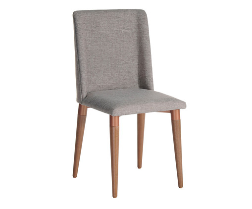 Cadeira em Madeira Thyra - Cinza, Cinza, Natural | WestwingNow
