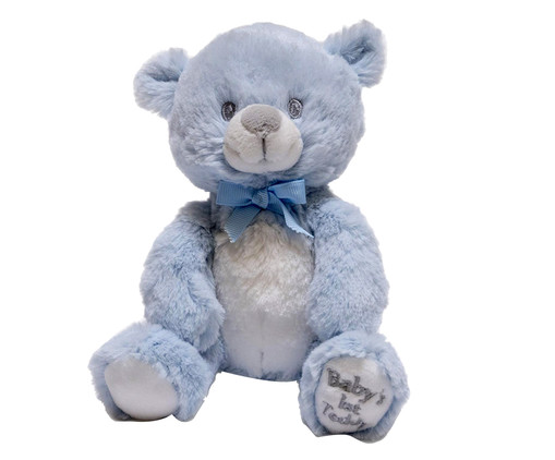 Pelúcia Urso Teddie Squeezers - Azul, Branco e Preto | WestwingNow