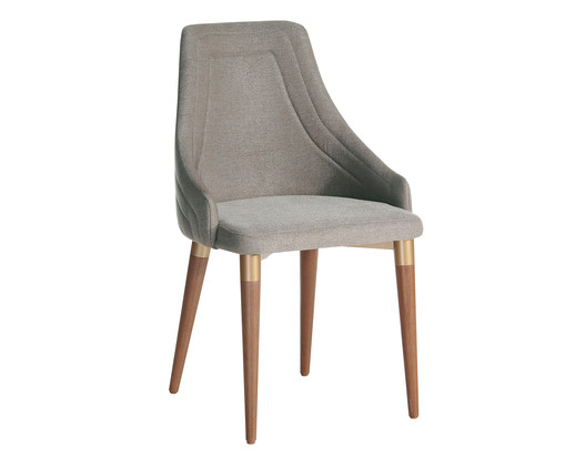 Cadeira em Madeira Evelyn - Cinza, Cinza, Natural   WestwingNow