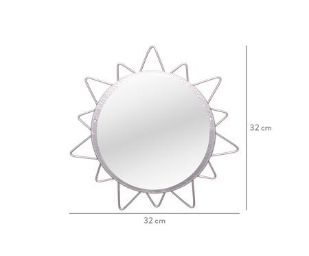 Espelho de Parede Redondo Sol Lynae Prata - 32cm | WestwingNow