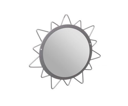 Espelho de Parede Redondo Sol Lynae Prata - 32cm   WestwingNow