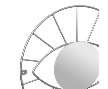 Espelho de Parede Redondo Latham Prata - 41cm | WestwingNow