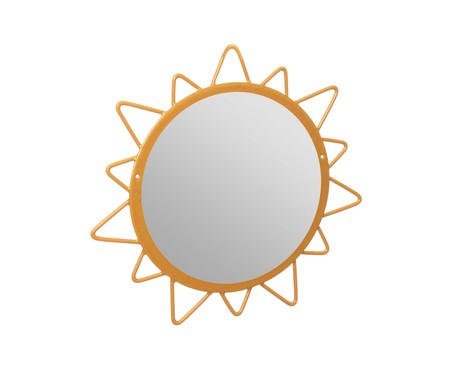 Espelho de Parede Redondo Sol Lynae Dourado - 32cm | WestwingNow