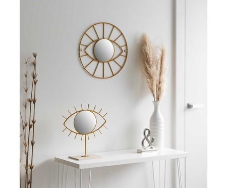 Espelho de Mesa Olho Jared - Dourado | WestwingNow