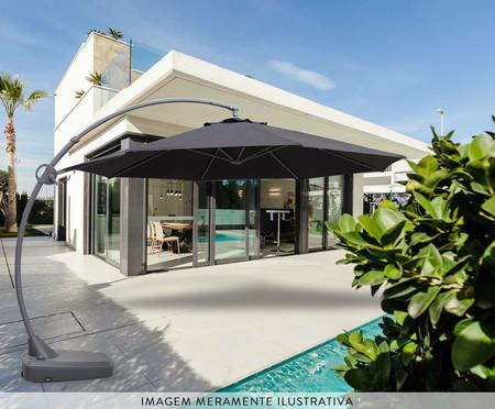 Ombrelone Barbados com Base - Preto | WestwingNow