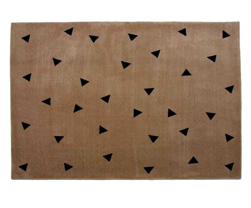 Tapete Infantil Triângulos - Bege, colorido   WestwingNow