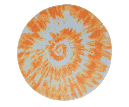 Tapete Redondo Infantil Tie Dye - Laranja, colorido | WestwingNow