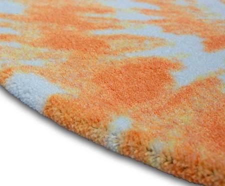 Tapete Redondo Infantil Tie Dye - Laranja | WestwingNow