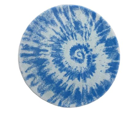 Tapete Redondo Infantil Tie Dye - Azul | WestwingNow