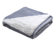 Cobertor Dupla Face Sherpa Flannel Cinza - 300G/M² | WestwingNow