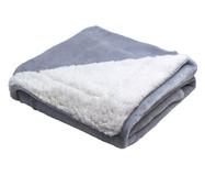 Cobertor Dupla Face Sherpa Flannel Cinza - 300G/M²   WestwingNow