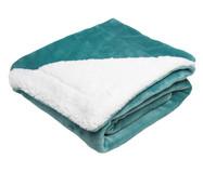 Cobertor Dupla Face Sherpa Flannel Aqua - 300G/M² | WestwingNow