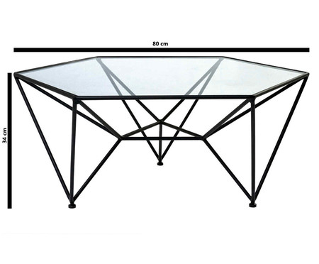 Mesa de Centro Ticotico - Preta e Cristal | WestwingNow