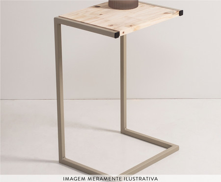 Mesa Lateral Celina - Taupe | WestwingNow