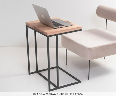 Mesa de Apoio Couch - Preto | WestwingNow