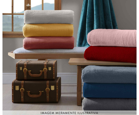 Cobertor Soft Super Azul Marinho - 300 g/m² | WestwingNow