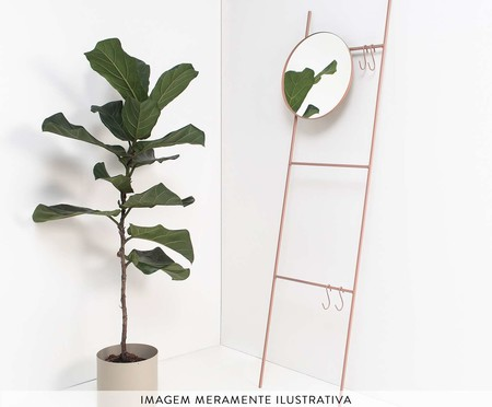 Espelho Redondo Escadinha Merle - Rosa | WestwingNow