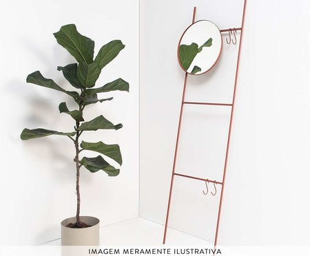 Espelho Redondo Escadinha Merle - Terracota | WestwingNow