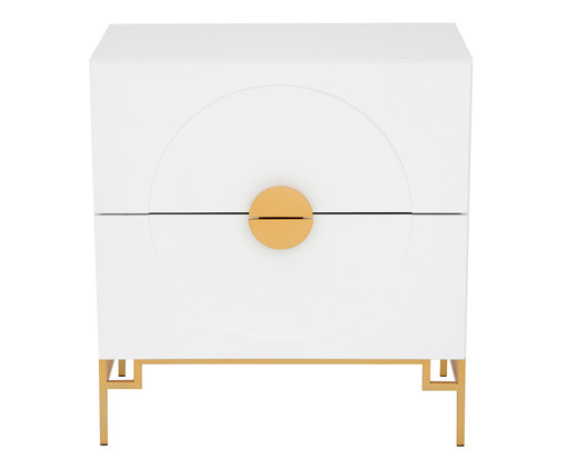 Cômoda Cerchio D'Oro Branca - 02 gavetas, Branco | WestwingNow