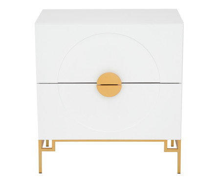 Cômoda Cerchio D'Oro Branca - 02 gavetas | WestwingNow