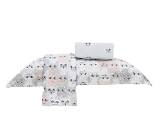 Jogo de Lençol Gatinhos 100% Algodão 155 Fios - Branco, Branco | WestwingNow