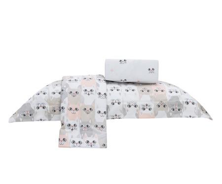 Jogo de Lençol Gatinhos 100% Algodão 155 Fios - Branco | WestwingNow