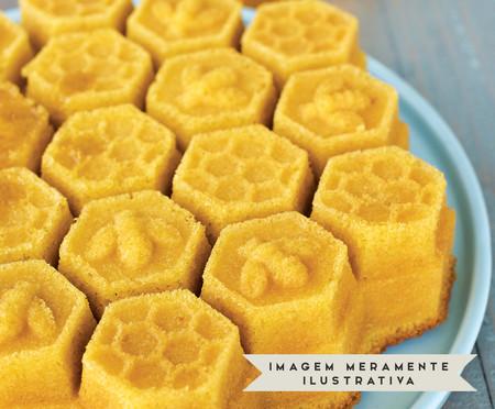 Forma para Bolo Honeycomb Pull - Dourada | WestwingNow