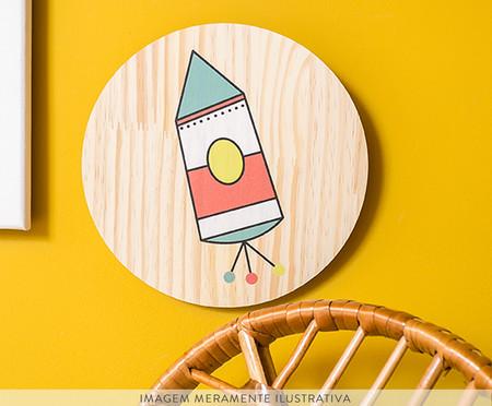 Placa Decorativa Mysticona Foguete | WestwingNow