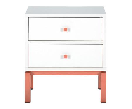 Mesa de Cabeceira Joyful - Branco e Rose | WestwingNow