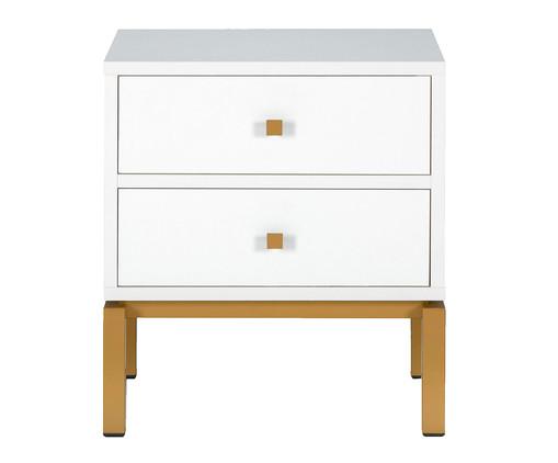 Mesa de Cabeceira Joyful - Branco e Dourado, Branco | WestwingNow
