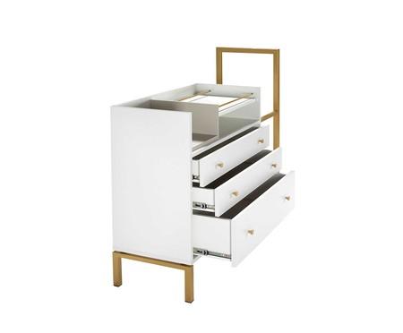 Cômoda Kind - Branco e Dourado | WestwingNow