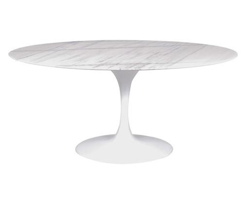 Mesa de Jantar Tulipa Oval - Branco Espírito Santo, Branco | WestwingNow
