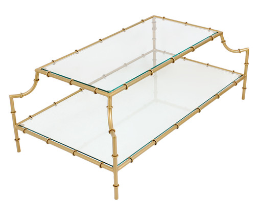 Mesa de Centro Turner - Dourada, Dourado, Transparente | WestwingNow