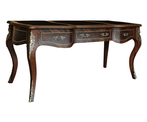 Escrivaninha de Madeira Luna - Imbuia, Marrom, Colorido | WestwingNow