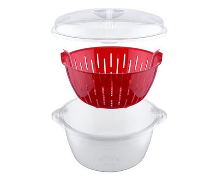 Panela À Vapor para Microondas Picadilly - Vermelha | WestwingNow