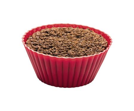 Jogo de Formas para Cupcake em Silicone Lola - Vermelho | WestwingNow