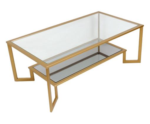 Mesa de Centro Phillips, Dourado, Transparente | WestwingNow