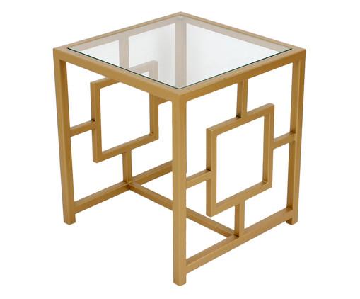 Mesa de Cabeceira Square - Dourado, Dourado, Transparente   WestwingNow