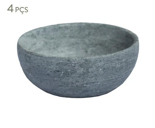 Jogo de Bowls em Pedra Sabão Pablo - Cinza, Cinza   WestwingNow