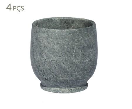 Jogo de Copos em Pedra Sabão Lena - Cinza | WestwingNow