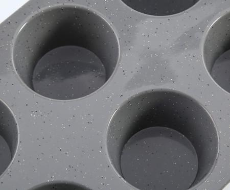Forma de Muffin Dots Cinza - 06 Divisórias | WestwingNow