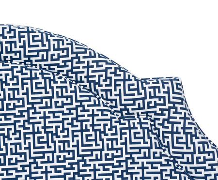 Cabeceira Painel em Linho com Vivo Billie - Azul | WestwingNow