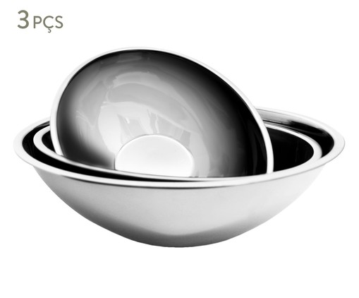 Jogo de Bowls em Inox  Zarah - Prata, Prata | WestwingNow