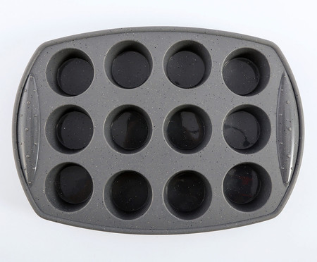 Forma de Muffin Dots Cinza - 12 Divisórias | WestwingNow