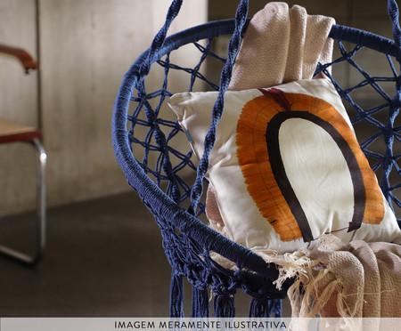 Poltrona Macramê Suspensa - Azul Marinho | WestwingNow