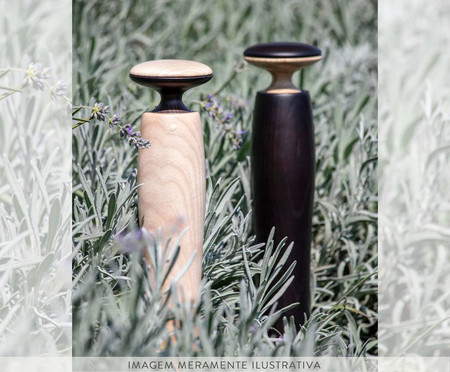 Moedor de Sal e Pimenta Legnoart Hercules - Bege | WestwingNow