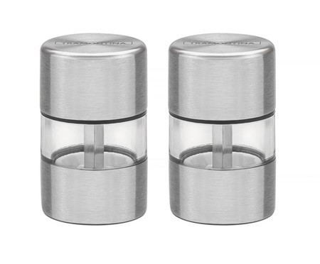Conjunto de Moedores de Sal e Pimenta Vinci Prata - 2 Peças | WestwingNow