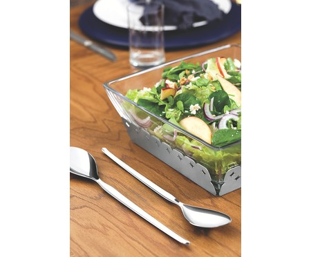 Jogo de Talheres para Salada em Inox Leffe - Prata | WestwingNow