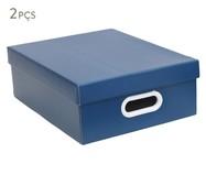 Jogo de Caixas Organizadoras Sodré - Azul | WestwingNow